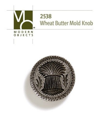 Modern Objects Designer Hardware Wheat Butter-mold Cabinet Knob