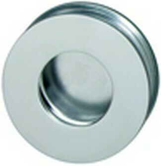 Hafele Cabinet Hardware, Flush Handle, aluminum, anodized matt, diameter 75mm