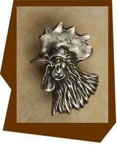 Anne At Home Rooster Head Cabinet Knob - Left