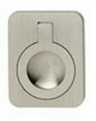 Hafele Cabinet Hardware, Handle, brass, nickel brushed, 47 x 60mm
