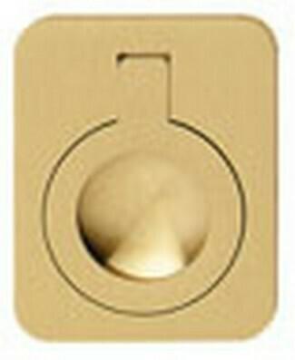 Hafele Cabinet Hardware, Handle, brass, matt, 47 x 60mm