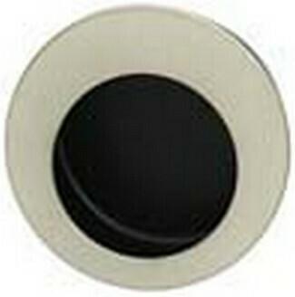 Hafele Cabinet Hardware, Mortise Pull, brushed nickel matt / black, diameter 55mm