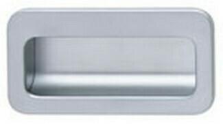 Hafele Cabinet Hardware, Mortise Pull, zinc, chrome matt, center to center 110mm