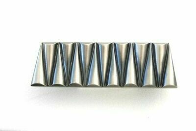 "ZivaWorks Decorative Hardware Tremelo Cabinet Pull 1 11/16"" X 5 7/16"" *NICKEL ANGLED EDGE"