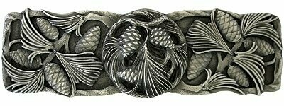 Notting Hill Cabinet Pull Cones & Boughs Antique Pewter 4-3/8
