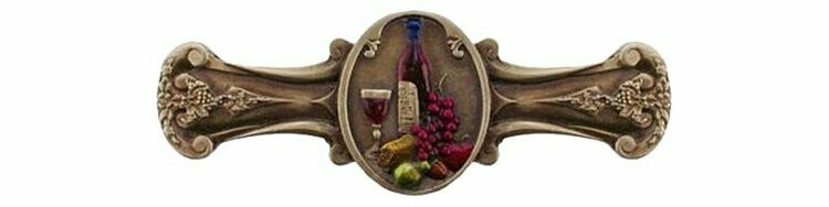 Notting Hill Cabinet Pull Best Cellar (Wine) Brass Hand Tinted 4