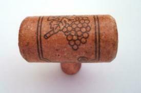 Vine Designs Cherry Stem,  matching cork cabinet Knob