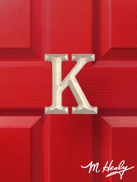 Michael Healy Designs Letter K Door Knocker - Brushed Nickel