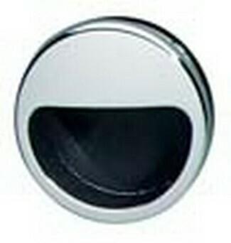 Hafele Cabinet Hardware, Mortise Pull, plastic, chrome polished / black, 55mm