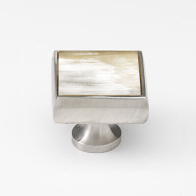 Mood Australia Satin Pewter & Natural Cattle Horn Cabinet Knob-101