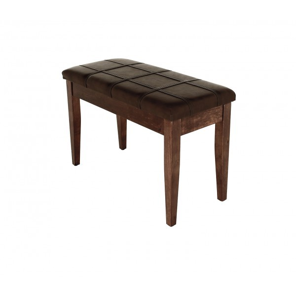 Dolce - Piano Stool with Music Book Storage - Polished Walnut 00051