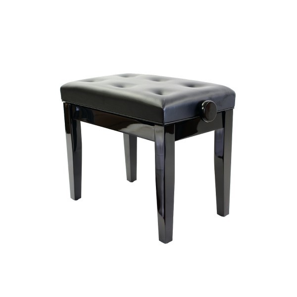 Prima Adjustable Piano Stool - Polished Ebony 00052