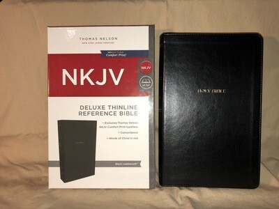 Thinline Black Ref Bible NKJV