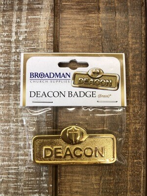 Deacon With Cross Brass