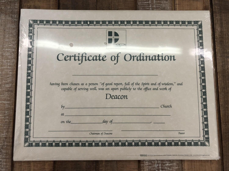 Deacon Certificate Parchment