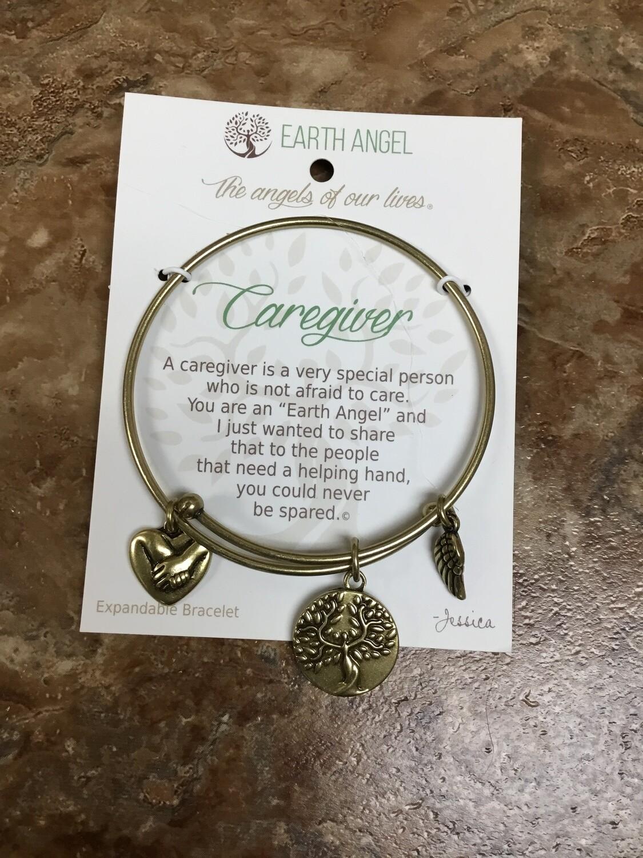 Caregiver Bracelet Brass
