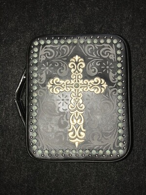 Black Swirl Cross Case