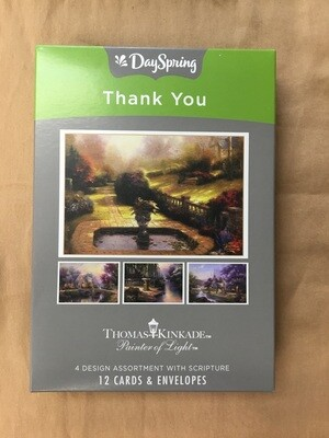 Thomas Kinkade Thank you cards