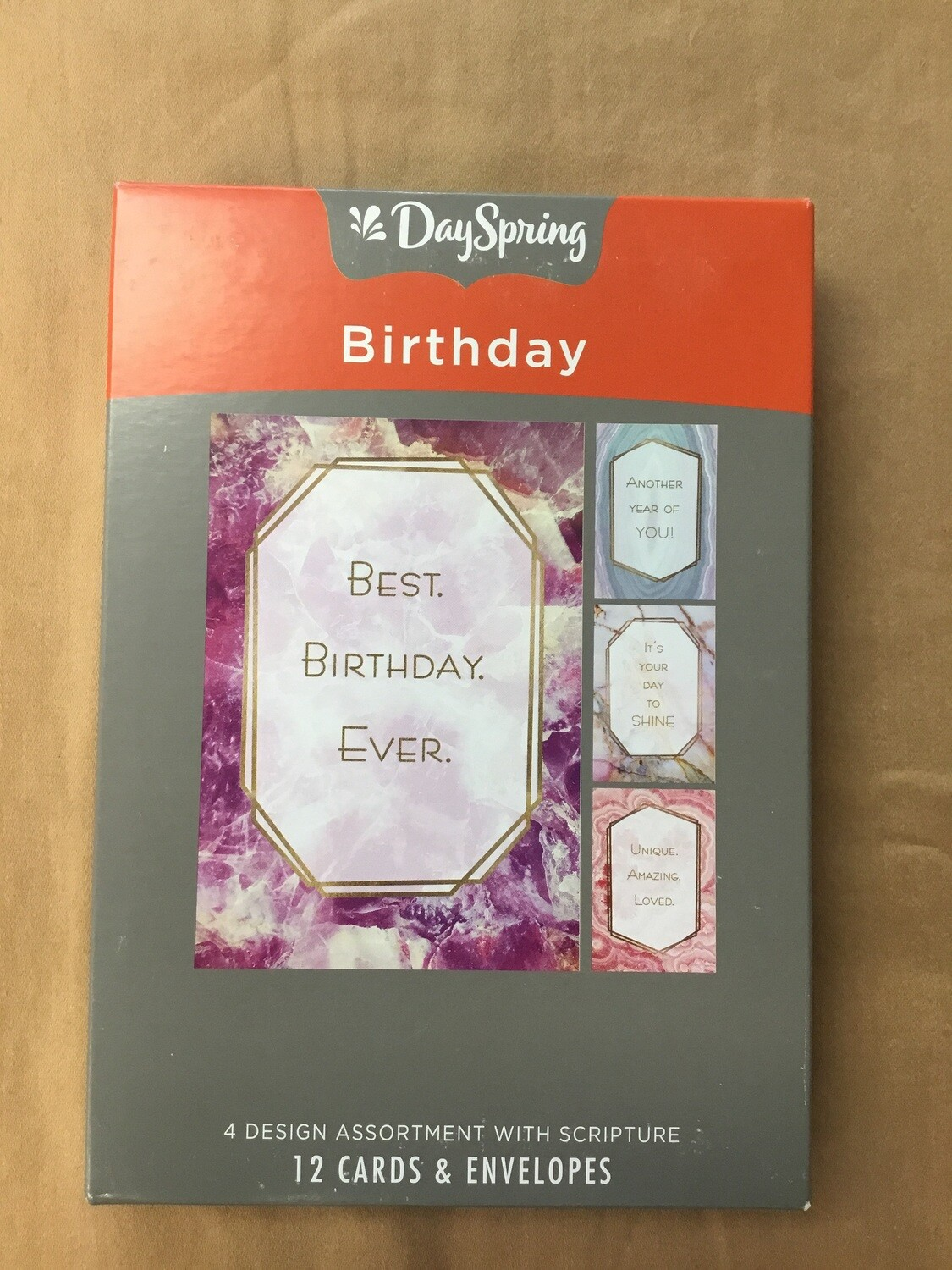 Marble birthday cards