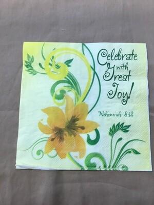 Celebrate With Great Joy Napkin