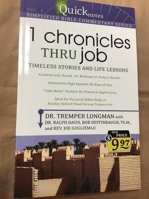 1 Chronicles Thru Job