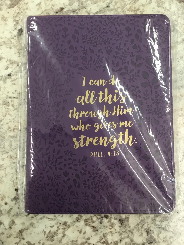 Phil 4:13 Purple journal