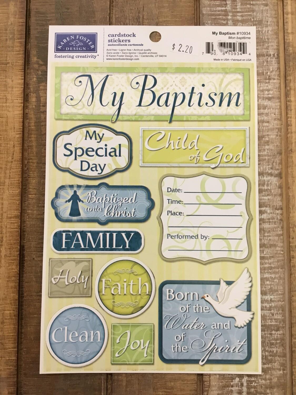 Baptism sticker