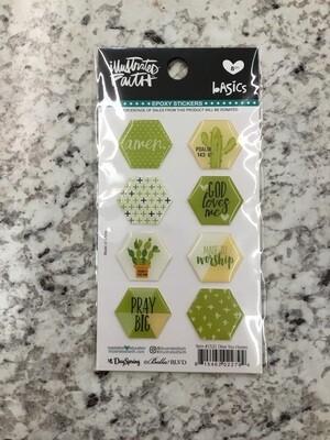Olive You Epoxy Stickers