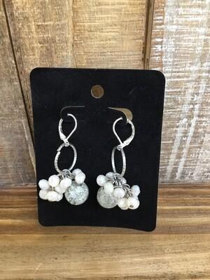 Crystal Vine Pink earrings