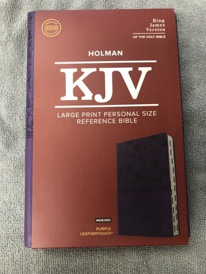 KJV purple Leathertouch Indexed