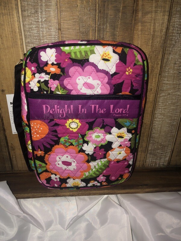 Delight in the Lord Quilted Bible Cover