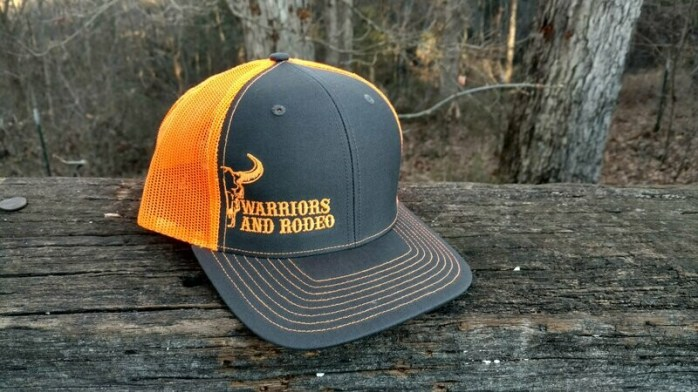 WARodeo Grey/Neon Orange Hat