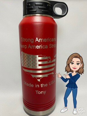 Personalized 32 oz Water Bottle