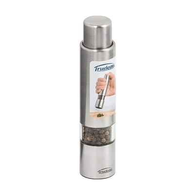 Trudeau One Button Pepper Mill - Stainless Steel