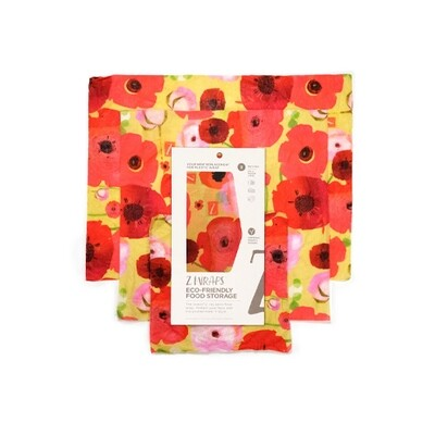 Z Wraps Multi-Size 3 Pack - Painted Poppies