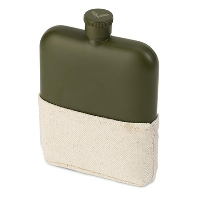 Foster & Rye Matte Army Green Flask