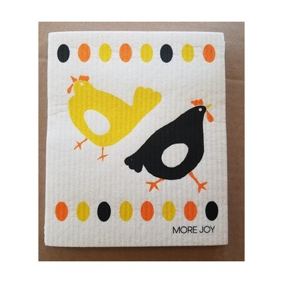 Compostable Dishcloth - Chickens & Eggs