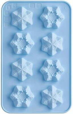 Trudeau Silicone Molds: Pack of 3 - Snowflakes