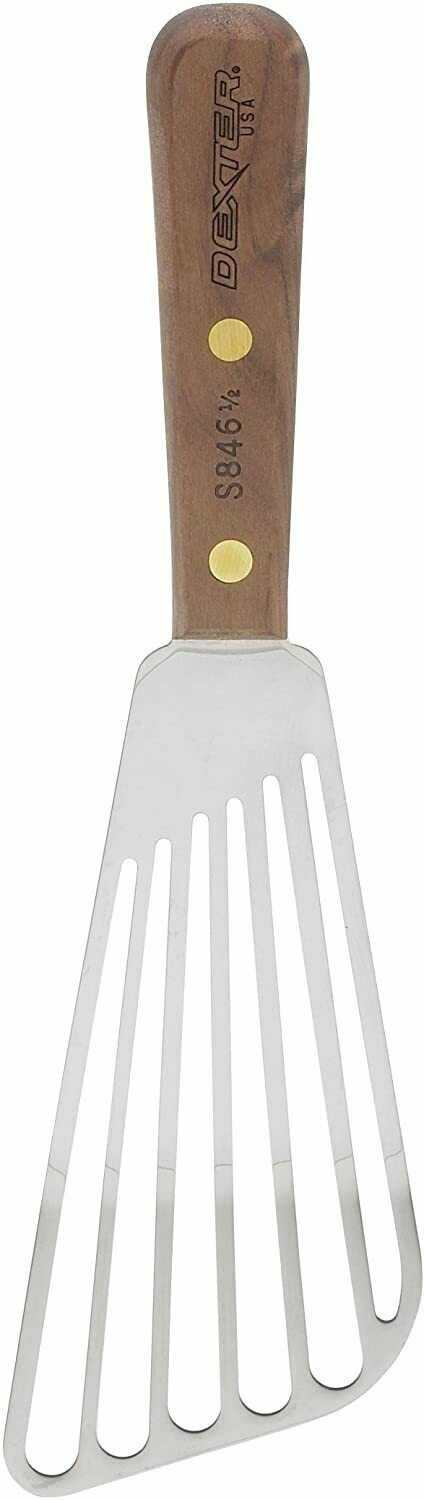 Dexter Slotted Fish Turner with Walnut Handle