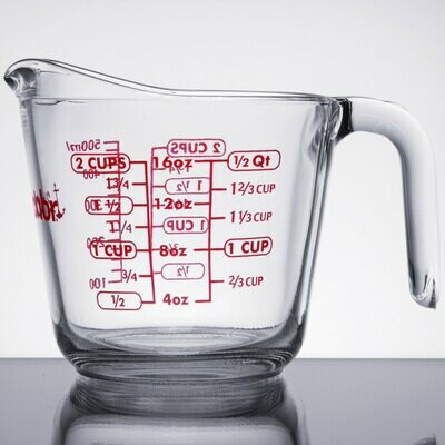 Tempered Glass Measuring Cup - 2 Cups (16oz)
