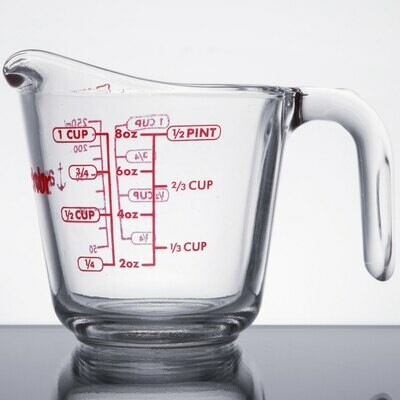 8 Ounce Anchor Hocking Tempered Glass Measuring Cup