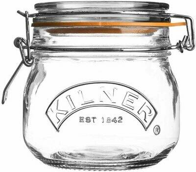 Kilner Square Clip Top Jar 17 oz