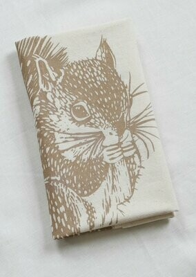 Hearth & Harrow Organic Cotton Tea Towel - Squirrel