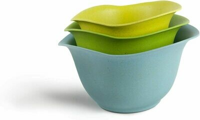 Eco-Smart Purelast Set of 3 Mixing Bowls - Blue, Green, Lime