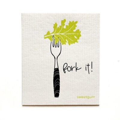 Compostable Dishcloth - Fork it!