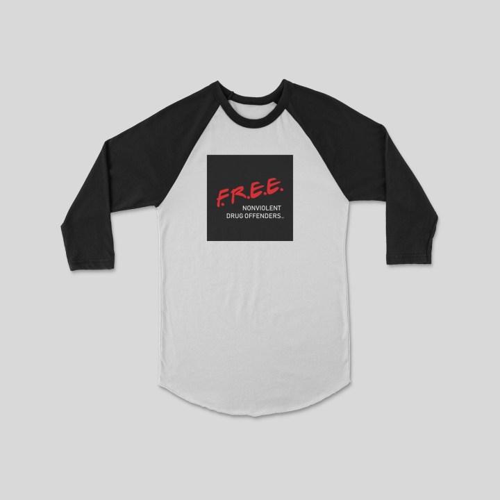 F.R.E.E. Nonviolent Raglan Sleeve