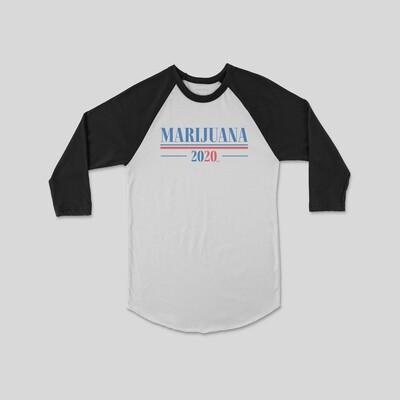 Marijuana 2020 Raglan Sleeve
