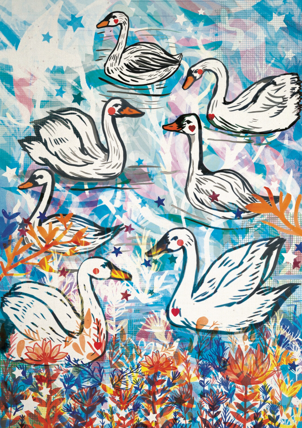 Swans by Jo Cheung