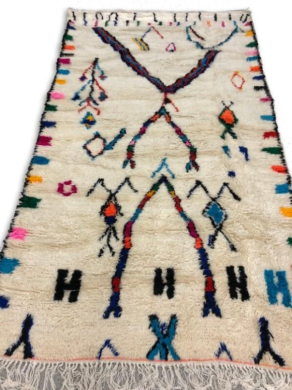 Colourful Beni Ourain Handmade Moroccan Rug