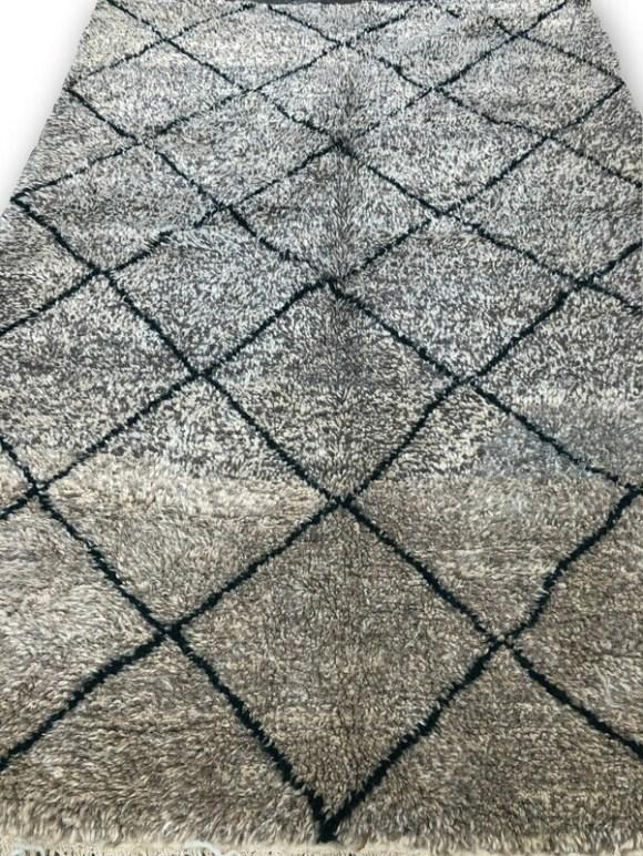 Handmade Beni Ourain Wool Rug 250 x 166 cm